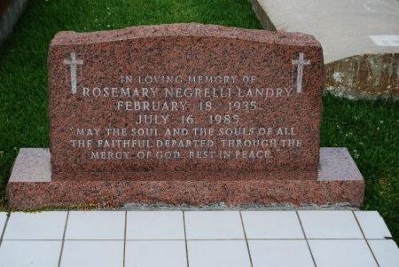 LANDRY, ROSEMARY - Pointe Coupee County, Louisiana | ROSEMARY LANDRY - Louisiana Gravestone Photos