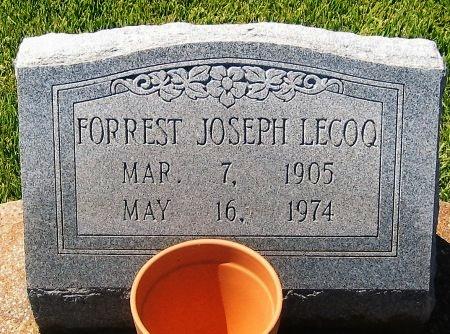 LECOQ, FORREST JOSEPH - Pointe Coupee County, Louisiana   FORREST JOSEPH LECOQ - Louisiana Gravestone Photos