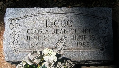 OLINDE LECOQ, GLORIA JEAN - Pointe Coupee County, Louisiana   GLORIA JEAN OLINDE LECOQ - Louisiana Gravestone Photos