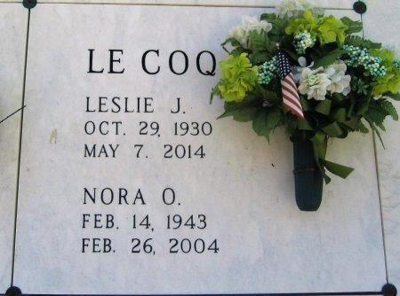 LECOQ, NORA - Pointe Coupee County, Louisiana | NORA LECOQ - Louisiana Gravestone Photos