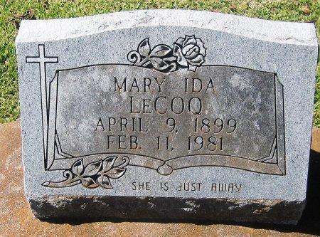 LECOQ, MARY IDA - Pointe Coupee County, Louisiana | MARY IDA LECOQ - Louisiana Gravestone Photos