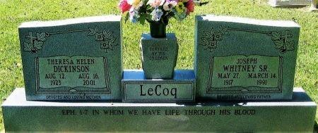 LECOQ, JOSEPH WHITNEY, SR - Pointe Coupee County, Louisiana | JOSEPH WHITNEY, SR LECOQ - Louisiana Gravestone Photos