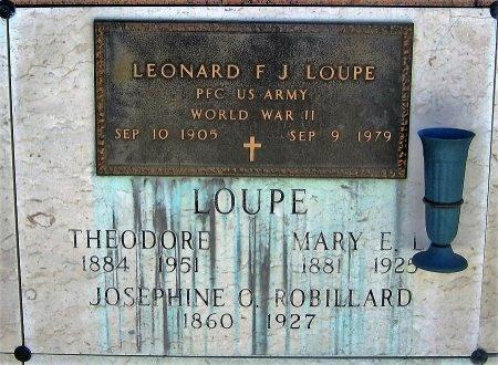 LEONARD LOUPE, MARY E - Pointe Coupee County, Louisiana | MARY E LEONARD LOUPE - Louisiana Gravestone Photos