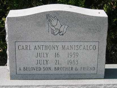 MANISCALCO, CARL ANTHONY - Pointe Coupee County, Louisiana | CARL ANTHONY MANISCALCO - Louisiana Gravestone Photos