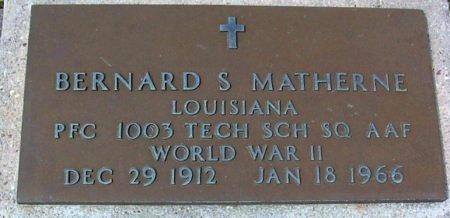 MATHERNE, BERNARD S  (VETERAN WWII) - Pointe Coupee County, Louisiana | BERNARD S  (VETERAN WWII) MATHERNE - Louisiana Gravestone Photos