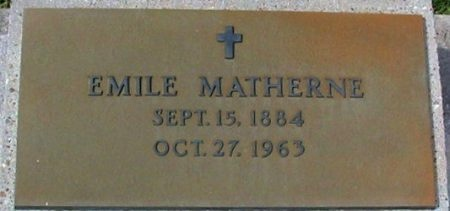 MATHERNE, EMILE - Pointe Coupee County, Louisiana | EMILE MATHERNE - Louisiana Gravestone Photos