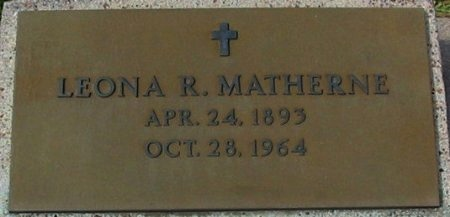 MATHERNE, LEONA R - Pointe Coupee County, Louisiana | LEONA R MATHERNE - Louisiana Gravestone Photos
