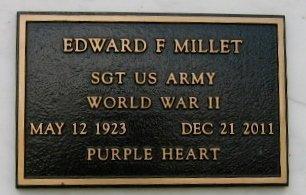 MILLET, EDWARD F  (VETERAN WWII) - Pointe Coupee County, Louisiana | EDWARD F  (VETERAN WWII) MILLET - Louisiana Gravestone Photos