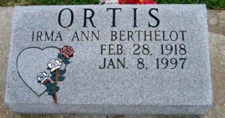 ORTIS, BERTHA ANN - Pointe Coupee County, Louisiana   BERTHA ANN ORTIS - Louisiana Gravestone Photos
