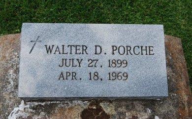 PORCHE, WALTER D - Pointe Coupee County, Louisiana   WALTER D PORCHE - Louisiana Gravestone Photos