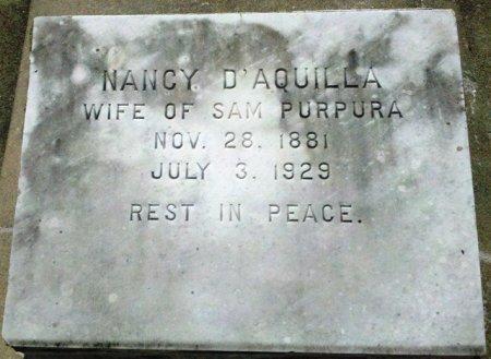 D'AQUILLA PURPURA, NANCY - Pointe Coupee County, Louisiana | NANCY D'AQUILLA PURPURA - Louisiana Gravestone Photos