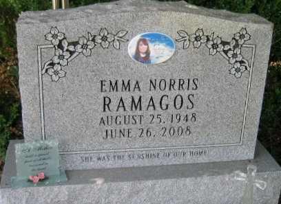 NORRIS RAMAGOS, EMMA - Pointe Coupee County, Louisiana | EMMA NORRIS RAMAGOS - Louisiana Gravestone Photos