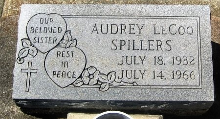 LECOQ SPILLERS, AUDREY - Pointe Coupee County, Louisiana   AUDREY LECOQ SPILLERS - Louisiana Gravestone Photos