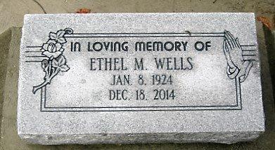 GRANIER WELLLS, ETHEL M - Pointe Coupee County, Louisiana | ETHEL M GRANIER WELLLS - Louisiana Gravestone Photos