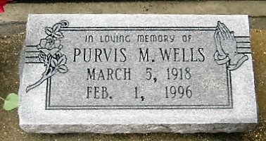 """WELLS, PURVIS M  """"PEG"""" - Pointe Coupee County, Louisiana 