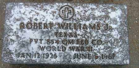 WILLIAMS, ROBERT, JR  (VETERAN WWII) - Pointe Coupee County, Louisiana | ROBERT, JR  (VETERAN WWII) WILLIAMS - Louisiana Gravestone Photos