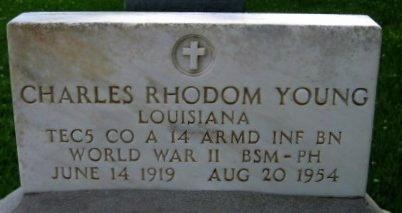 YOUNG, CHARLES RHODOM  (VETERAN WWII) - Pointe Coupee County, Louisiana   CHARLES RHODOM  (VETERAN WWII) YOUNG - Louisiana Gravestone Photos