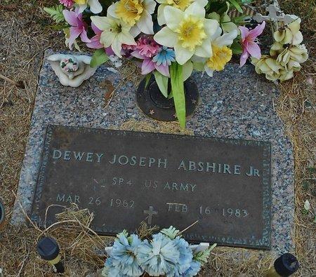 ABSHIRE, DEWEY JOSEPH, JR (VETERAN) - Rapides County, Louisiana | DEWEY JOSEPH, JR (VETERAN) ABSHIRE - Louisiana Gravestone Photos