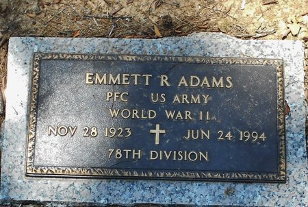 ADAMS, EMMETT R  (VETERAN WWII) - Rapides County, Louisiana | EMMETT R  (VETERAN WWII) ADAMS - Louisiana Gravestone Photos