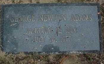 ADAMS, GEORGE NEWTON - Rapides County, Louisiana | GEORGE NEWTON ADAMS - Louisiana Gravestone Photos