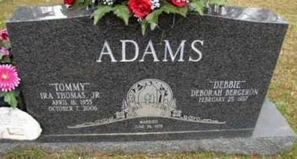 "ADAMS, IRA THOMAS, JR ""TOMMY"" - Rapides County, Louisiana   IRA THOMAS, JR ""TOMMY"" ADAMS - Louisiana Gravestone Photos"