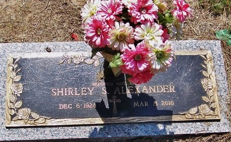 ALEXANDER, SHIRLEY - Rapides County, Louisiana | SHIRLEY ALEXANDER - Louisiana Gravestone Photos