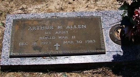 ALLEN, ARTHUR M  (VETERAN WWII) - Rapides County, Louisiana | ARTHUR M  (VETERAN WWII) ALLEN - Louisiana Gravestone Photos