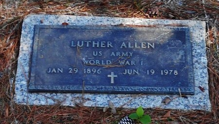 ALLEN, LUTHER (VETERAN WWI) - Rapides County, Louisiana | LUTHER (VETERAN WWI) ALLEN - Louisiana Gravestone Photos