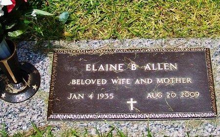 ALLEN, ELAINE B - Rapides County, Louisiana   ELAINE B ALLEN - Louisiana Gravestone Photos