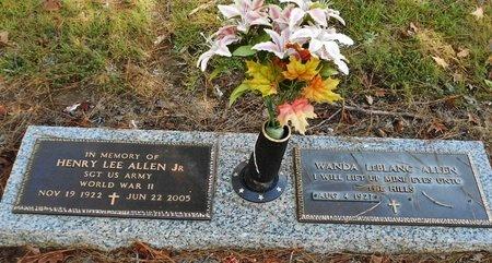 ALLEN, HENRY LEE, JR   (VETERAN WWII) - Rapides County, Louisiana | HENRY LEE, JR   (VETERAN WWII) ALLEN - Louisiana Gravestone Photos