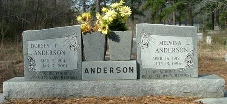 ANDERSON, MELVINA L - Rapides County, Louisiana | MELVINA L ANDERSON - Louisiana Gravestone Photos