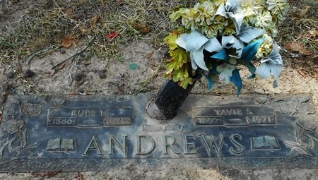 ANDREWS, TAVIE S - Rapides County, Louisiana | TAVIE S ANDREWS - Louisiana Gravestone Photos