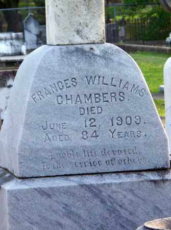 CHAMBERS, FRANCES (CLOSEUP) - Rapides County, Louisiana | FRANCES (CLOSEUP) CHAMBERS - Louisiana Gravestone Photos