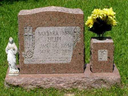 FILIPI, BARBARA ANN - Rapides County, Louisiana | BARBARA ANN FILIPI - Louisiana Gravestone Photos