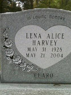 HARVEY, LENA ALICE - Rapides County, Louisiana | LENA ALICE HARVEY - Louisiana Gravestone Photos