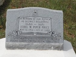 PIPER PRICE, ETHEL M - Rapides County, Louisiana | ETHEL M PIPER PRICE - Louisiana Gravestone Photos
