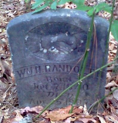 RANDOLPH, WILLIAM H  (VETERAN CSA) - Rapides County, Louisiana   WILLIAM H  (VETERAN CSA) RANDOLPH - Louisiana Gravestone Photos