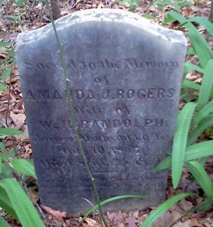 ROGERS RANDOLPH, AMANDA J - Rapides County, Louisiana | AMANDA J ROGERS RANDOLPH - Louisiana Gravestone Photos