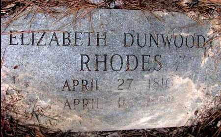 RHODES, ELIZABETH - Rapides County, Louisiana | ELIZABETH RHODES - Louisiana Gravestone Photos