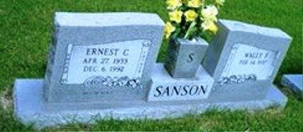 SANSON, ERNEST C - Rapides County, Louisiana | ERNEST C SANSON - Louisiana Gravestone Photos