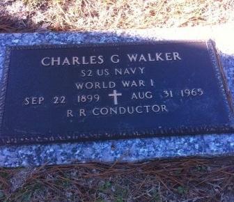 WALKER, CHARLES GILBERT  (VETERAN WWI) - Rapides County, Louisiana | CHARLES GILBERT  (VETERAN WWI) WALKER - Louisiana Gravestone Photos