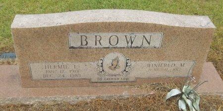 BROWN, HERMIE L - Richland County, Louisiana   HERMIE L BROWN - Louisiana Gravestone Photos