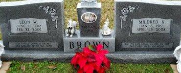 BROWN, MILDRED K - Richland County, Louisiana | MILDRED K BROWN - Louisiana Gravestone Photos