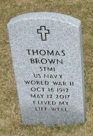 BROWN  , THOMAS (VETERAN WWII) - Richland County, Louisiana   THOMAS (VETERAN WWII) BROWN   - Louisiana Gravestone Photos