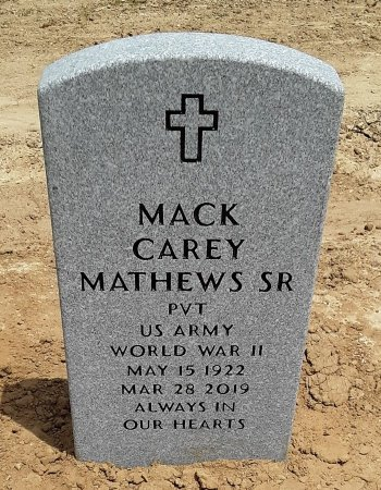 MATHEWS , MACK CAREY (VETERAN WWII) - Richland County, Louisiana | MACK CAREY (VETERAN WWII) MATHEWS  - Louisiana Gravestone Photos
