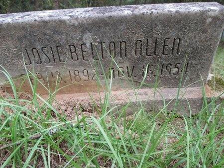 BELTON ALLEN, JOSIE - Sabine County, Louisiana | JOSIE BELTON ALLEN - Louisiana Gravestone Photos
