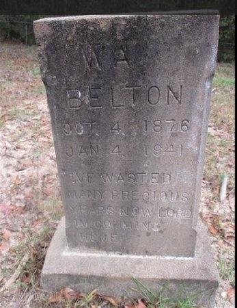 BELTON, W A - Sabine County, Louisiana   W A BELTON - Louisiana Gravestone Photos
