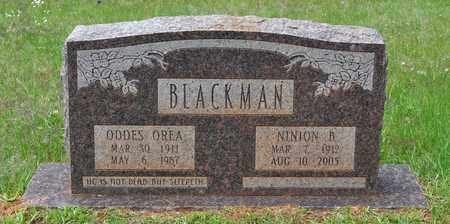 BLACKMAN, ODDES OREA - Sabine County, Louisiana | ODDES OREA BLACKMAN - Louisiana Gravestone Photos