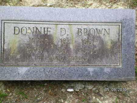 BROWN, DONNIE D - Sabine County, Louisiana | DONNIE D BROWN - Louisiana Gravestone Photos