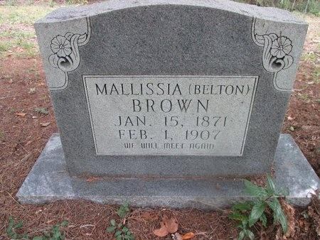 BROWN, MALLISSIA (MARKER 2) - Sabine County, Louisiana | MALLISSIA (MARKER 2) BROWN - Louisiana Gravestone Photos